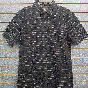 Hurley Short Sleeve Black Button Front Shirt
